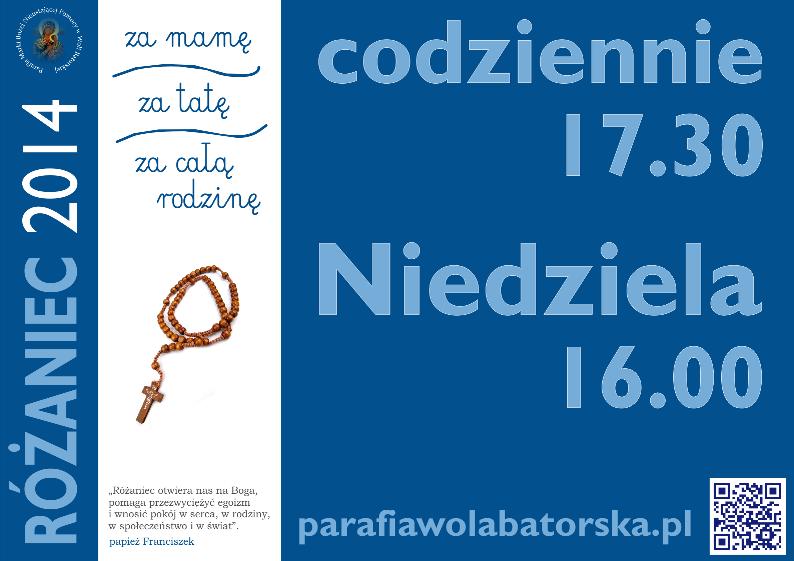 Różaniec 2014 - plakat