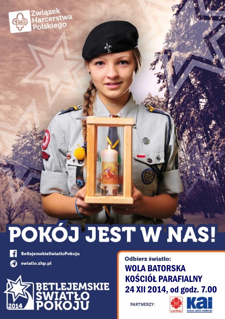 światło betlejemskie 2014 - plakat