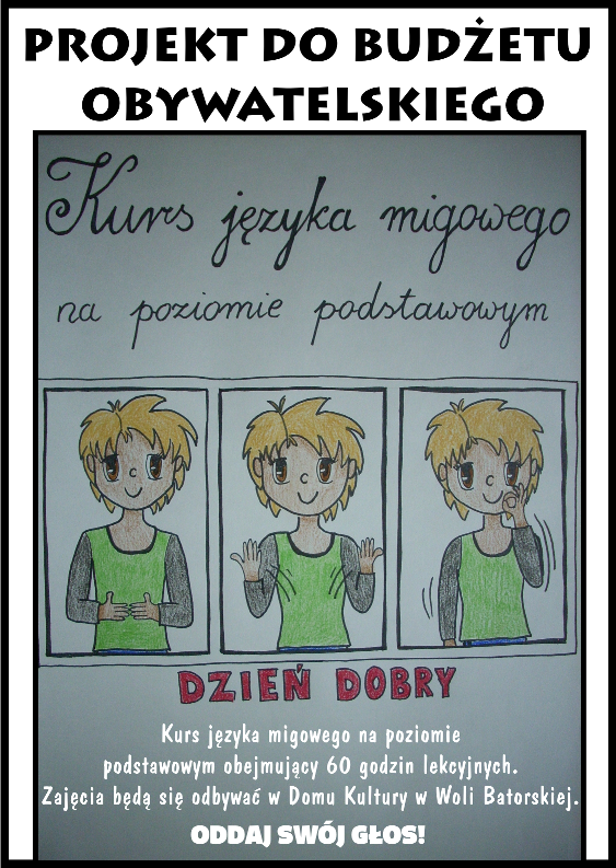 plakat 1 - język migowy