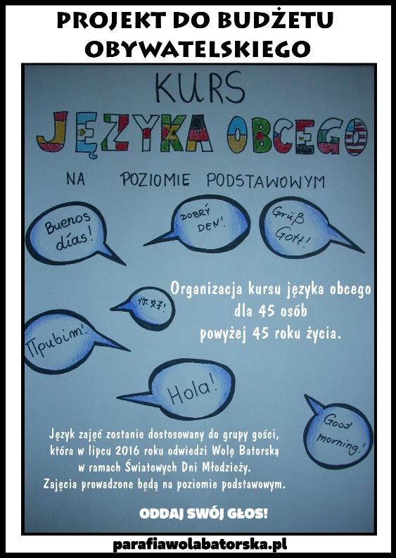 plakat 5 - język obcy