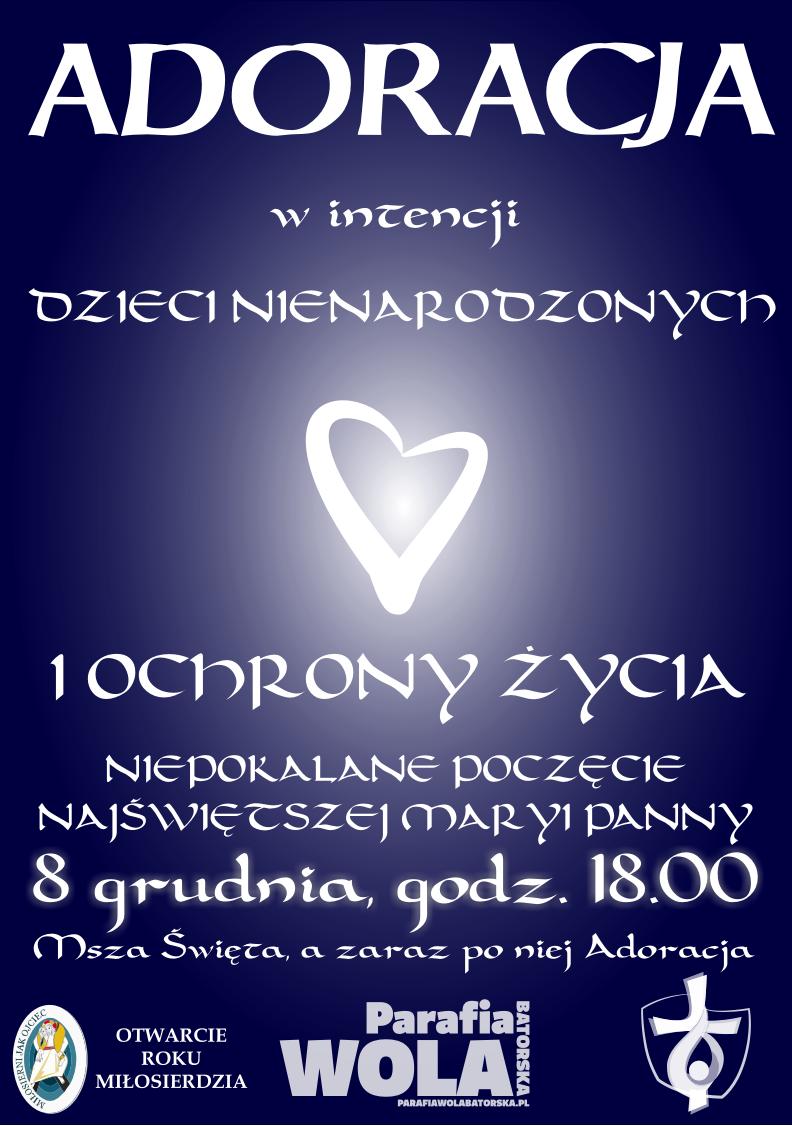 adoracja - grudzień 2015 plakat