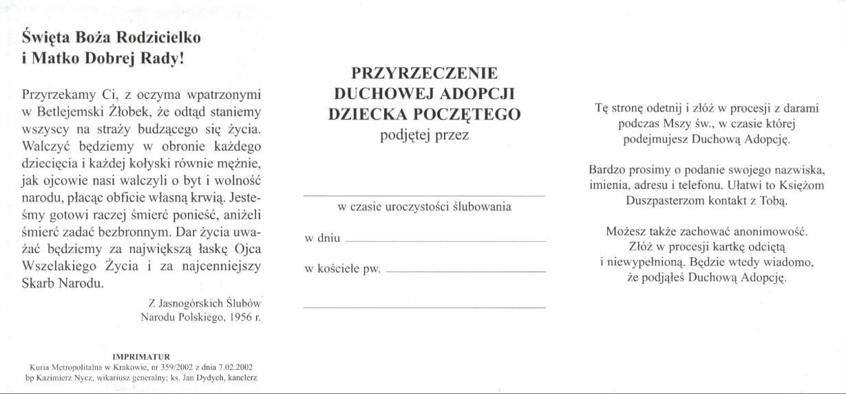 deklaracja 2